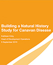 Aspa presentation on steps to build Caninform, a natural history study of Canavan disease